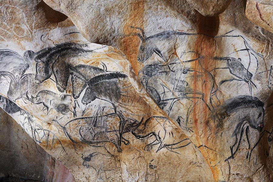 Grotte Chauvet 2 - panneau des chevaux