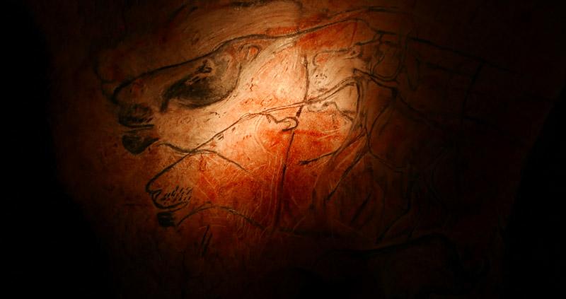 Panneau des lions Grotte Chauvet