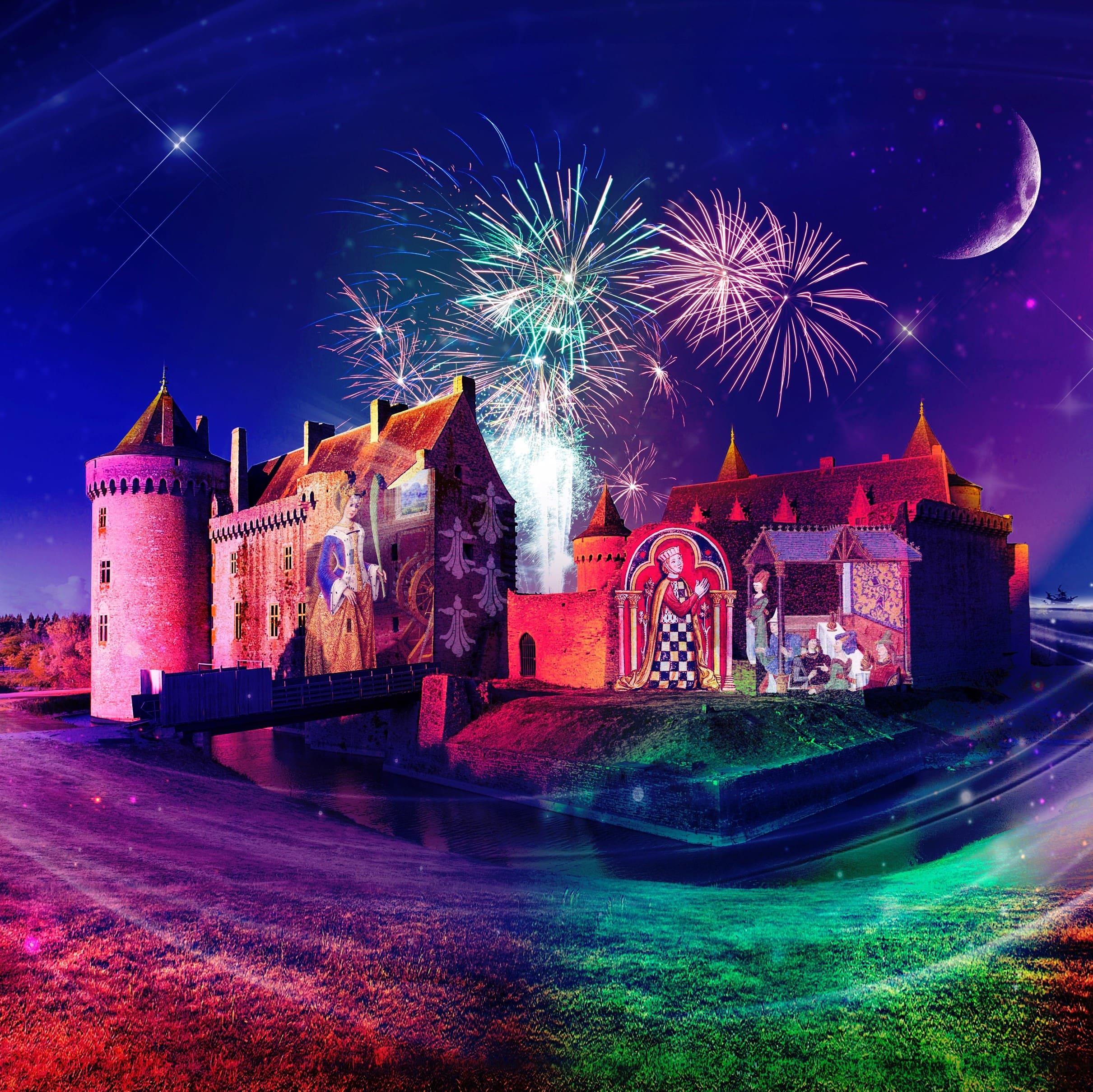 Spectacle nocturne au château de Suscinio