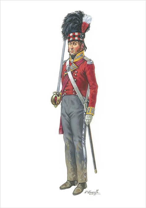 8 – GRANDE-BRETAGNE – OFFICIER SUBALTERNE DU 92ème RGT DES HIGHLANDERS (GORDON)