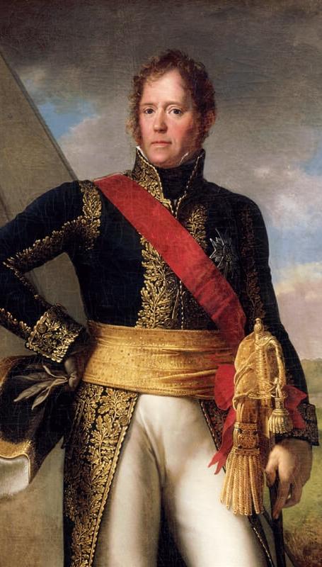 Portrait du maréchal Ney visible au mémorial waterloo 1815