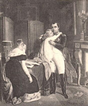 Adieux Napoleon 1er à sa famille