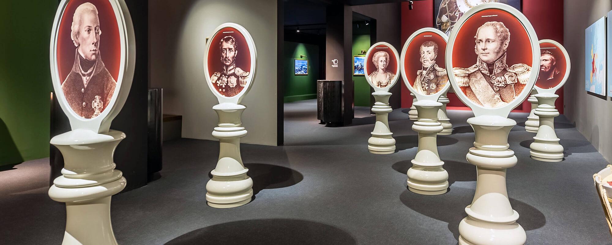 Musée Mémorial Waterloo 1815 salle des portraits
