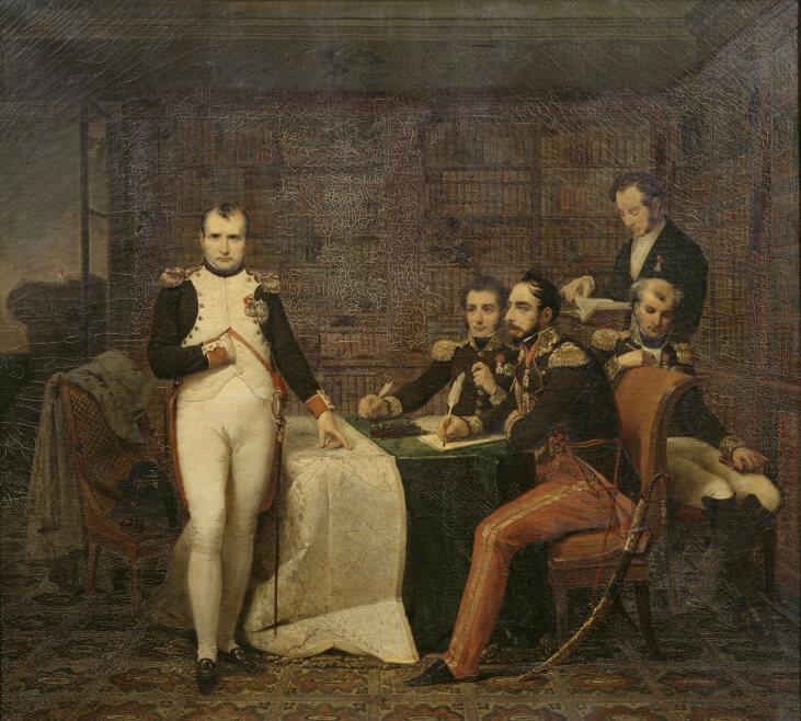 Napoleon et le  général Gourgaud à sainte hélène